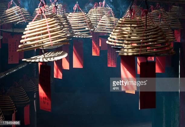 man mo temple, hong kong (xxxl) - man motempel stockfoto's en -beelden