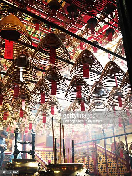 man mo temple - man motempel stockfoto's en -beelden