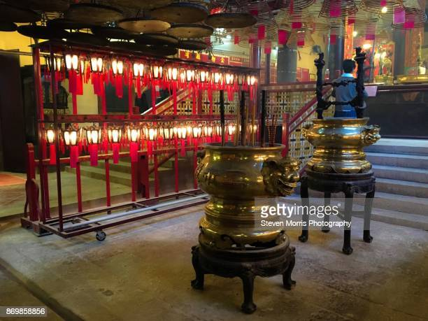 man mo temple - incense coils stock pictures, royalty-free photos & images
