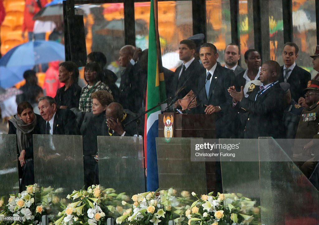 The Official Memorial Service For Nelson Mandela Is Held In Johannesburg : News Photo