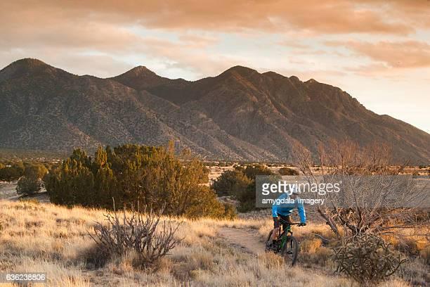 man mountain biking inspiration new mexico