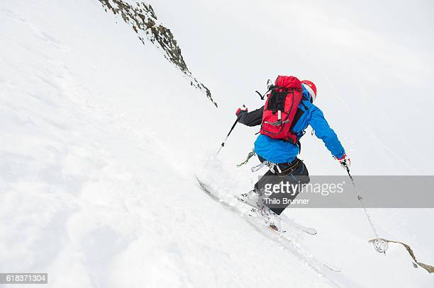 Man mountaineering at Wildspitze in Austria