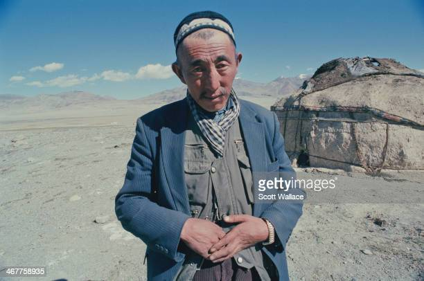 A man of a nomadic people at a yurt encampment in the Wakhan Corridor of northeastern Afghanistan 2004