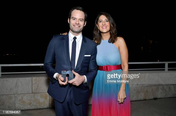 Man of Style Honoree Bill Hader and D'Arcy Carden attend the Fifth Annual InStyle Awards at The Getty Center on October 21 2019 in Los Angeles...