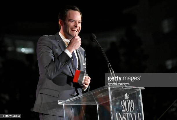Man of Style Honoree Bill Hader speaks onstage at the Fifth Annual InStyle Awards at The Getty Center on October 21 2019 in Los Angeles California