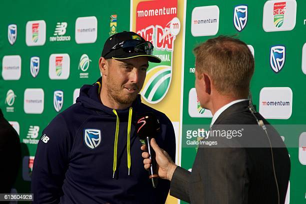 Man of the Match Kyle Abbott following the Momentum ODI Series 4th ODI match between South Africa and Australia at St Georges Park on October 09 2016...
