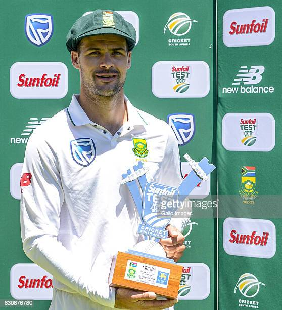 Man of the match Stephen Cook of South Africa during day 5 of the 1st Test match between South Africa and Sri Lanka at St George's Park on December...