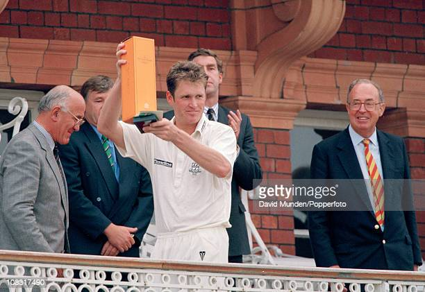 Man of the match Tom Moody of Worcestershire on the pavilion balcony after the Nat West Trophy Final between Worcestershire and Warwickshire played...
