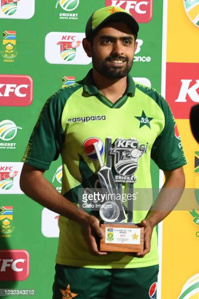 Man of the series, Babar Azam of Pakistan during the 4th KFC T20 International match between South Africa and Pakistan at SuperSport Park on April...