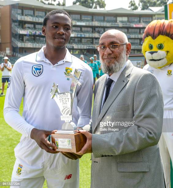 Man of the series Kagiso Rabada of South Africa during day 5 of the 4th Sunfoil Test match between South Africa and Australia at Bidvest Wanderers...