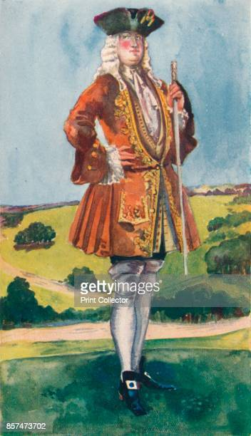 A Man of the Time of George I' 1907 From English Costume painted and described by Dion Clayton Calthrop [Adam Charles Black London 1907] Artist Dion...