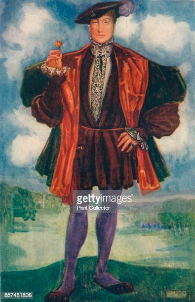 A Man of the Time of Henry VIII' 1907 From English Costume painted and described by Dion Clayton Calthrop [Adam Charles Black London 1907] Artist...
