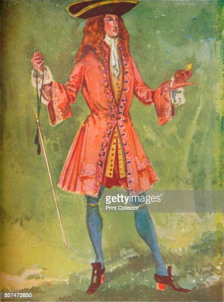 A Man of the Time of Queen Anne' 1907 From English Costume painted and described by Dion Clayton Calthrop [Adam Charles Black London 1907] Artist...