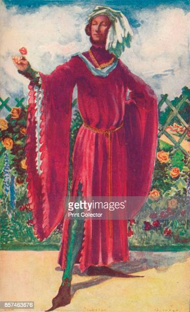 Man of the Time of Richard II', 1907. From English Costume, painted and described by Dion Clayton Calthrop. [Adam & Charles Black, London, 1907]....