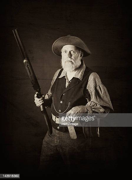 man of the wild west - gold rush stock photos and pictures