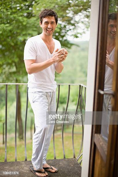 Man on a balcony
