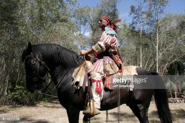 A man on a horse at the Big Cypress Shootout event at Billie Swamp Safari