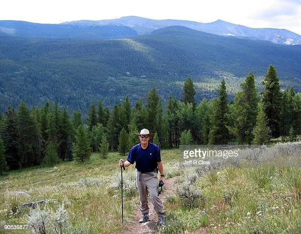 Man on a Solo Hike