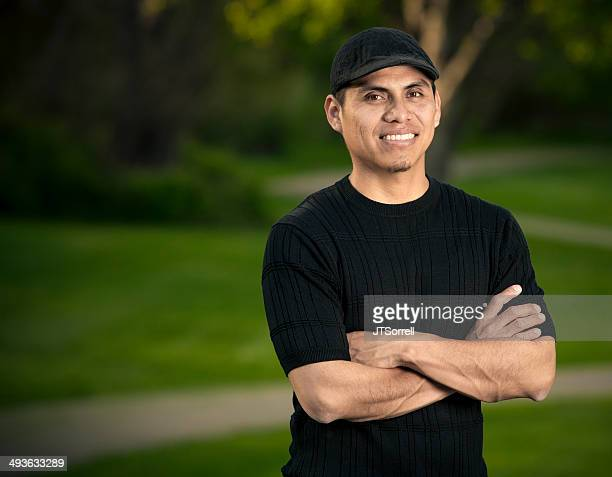 man on a walking path - handsome mexican men stock pictures, royalty-free photos & images