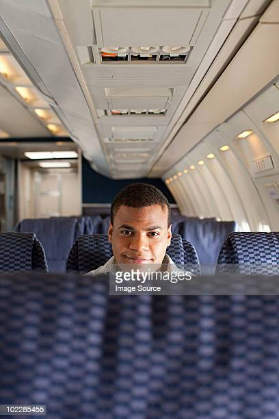 Man on an airplane