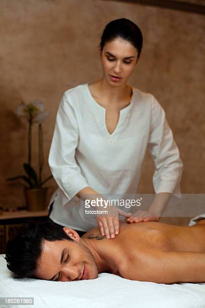 Man on back massage