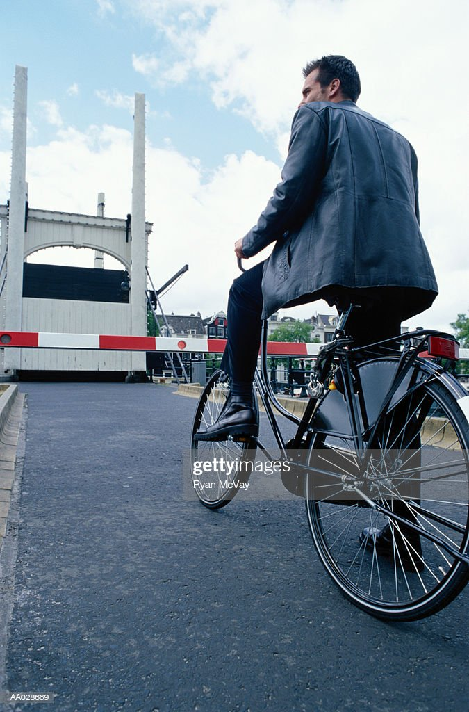 Man on Bicycle : Stock Photo