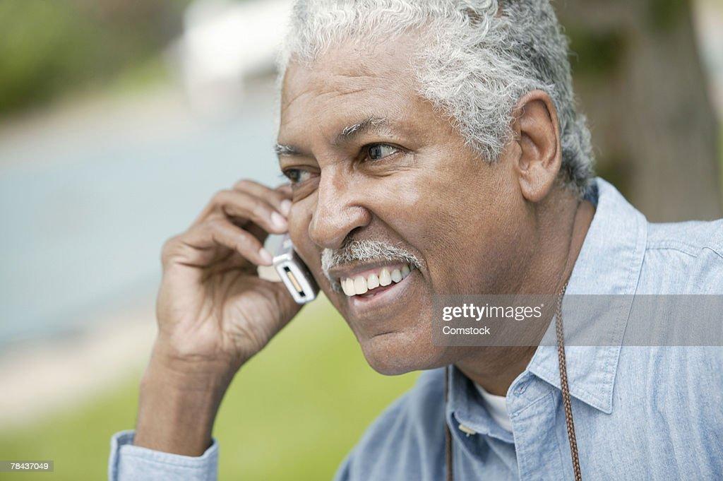 Man on cell phone : Stockfoto