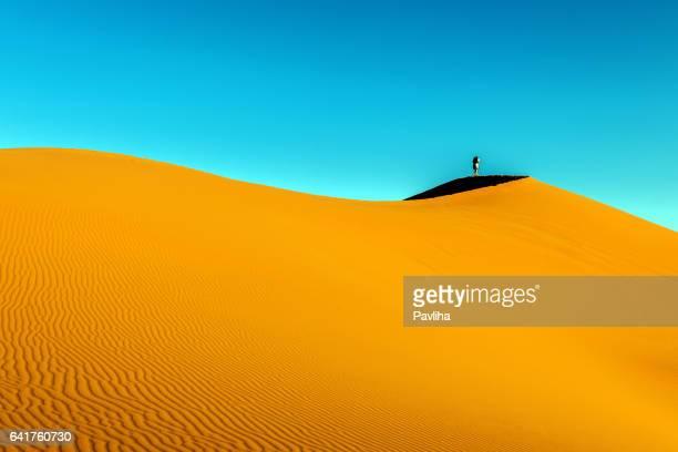リモコ Erg Chebbi 砂丘の日の出、モロッコ、アフリカ