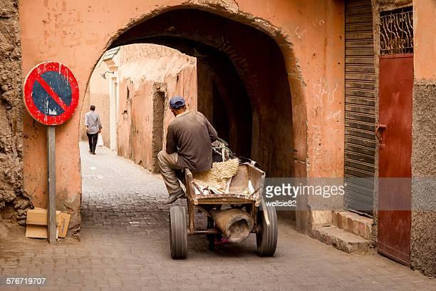 Man on his cart