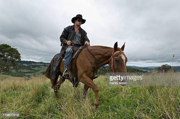 Man on horse in countryside