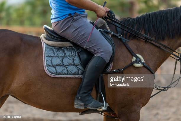 man on horseback - riding boot stock pictures, royalty-free photos & images