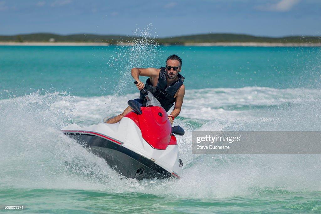 Man on jet ski : Foto de stock