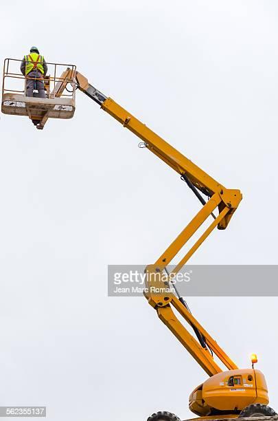 A man on lifting
