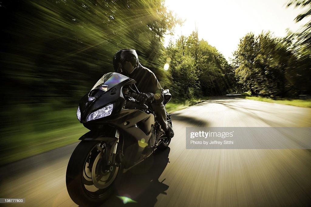Man on Motorcycle : ストックフォト