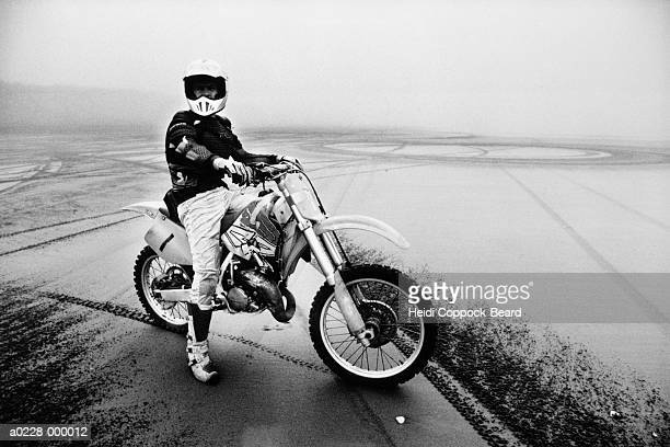 man on motorcycle - heidi coppock beard bildbanksfoton och bilder