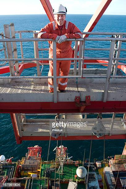man on oil rig