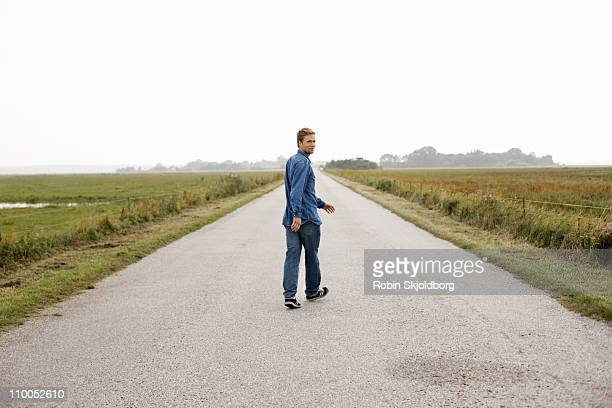 Man on road