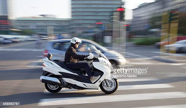 Man On Scooter In Milan