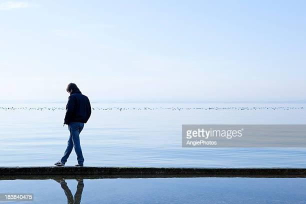 Homme sur la mer