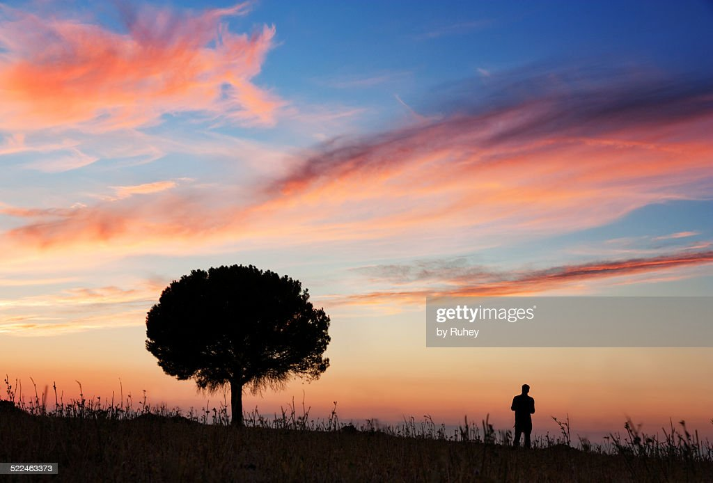 Man on the earth : Stock Photo