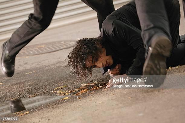 man on the ground - sparka bildbanksfoton och bilder