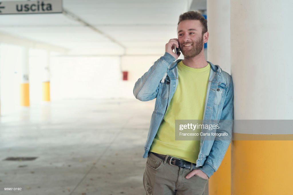 Man on the phone : Stock-Foto