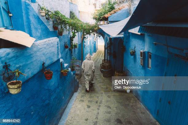 Man on the street of Chefchaouen
