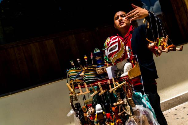 A Man On the Street Selling Knick Knacks Roma Mexico City