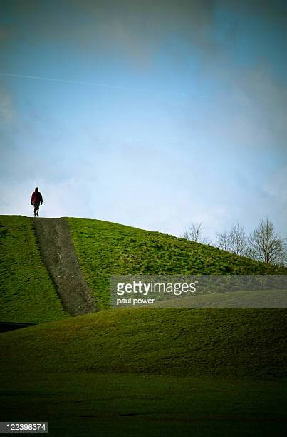 Man on top of hill