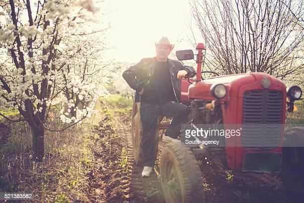 Mann am Traktor