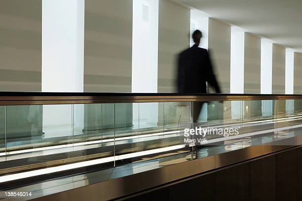man on travelator - bundestag stock pictures, royalty-free photos & images