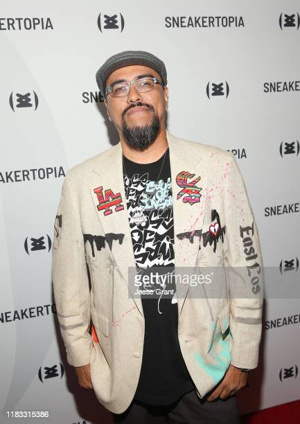 Man One attends the Sneakertopia Los Angeles VIP Preview at HHLA on October 24 2019 in Los Angeles California