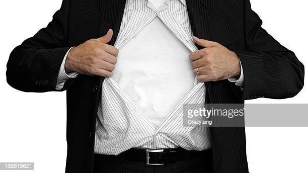 man opening up his shirt - fully unbuttoned stock pictures, royalty-free photos & images