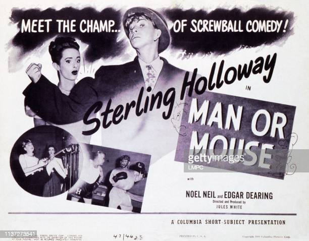 Man Or Mouse, lobbycard, top, from left: Noel Neill, Sterling Holloway, 1948.